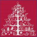 DMC製クリスマスツリー刺繍キット(JPBK557R)レッド