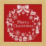 ◆X-100クリスマスリース(レッド)◆オリムパス刺繍キット