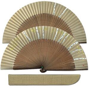 Fan set for men Shirakaba hand-painted Kyoto fan