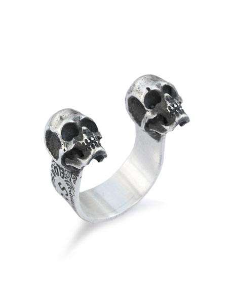 【Marylin of Mars】Double Skulls Ring