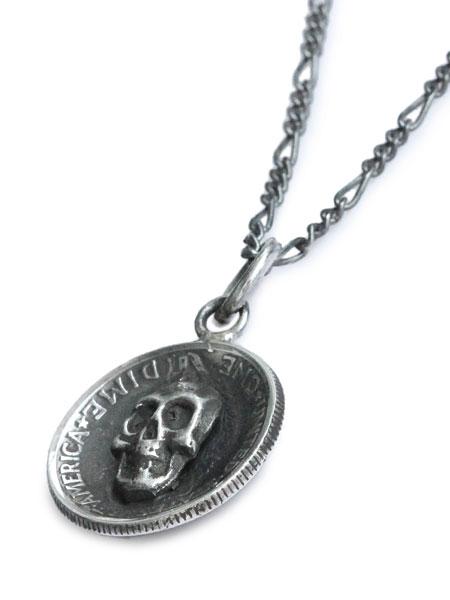 Lee Downey(リーダウニー)Marcury Dime Skull Necklace / スカル ネックレス ペンダント マーキュリーコイン シルバー ドクロ メンズ レディース