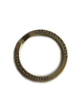 BELIEVEINMIRACLE(ビリーブインミラクル)【Brand Key Ring ブランド キーリング】[正規品](2重カン/鍵/アンティークゴールド/ブラス/カスタム/キーホルダー/真鍮/金/プレゼント/ユニセックス/メンズ/レディース)
