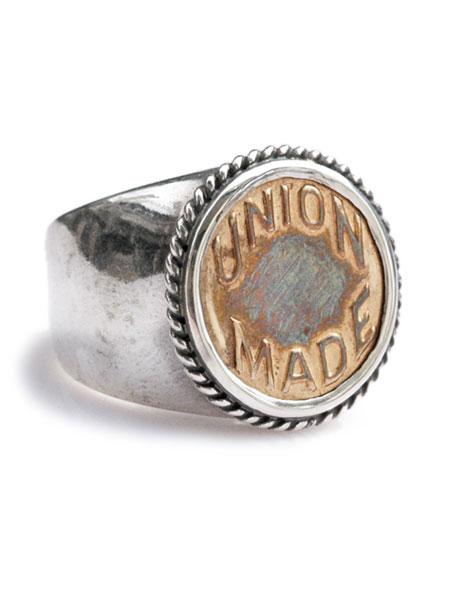 男女兼用アクセサリー, 指輪・リング Button WorksLARRY SMITH Button Works VINTAGE TACK BUTTON RING 925