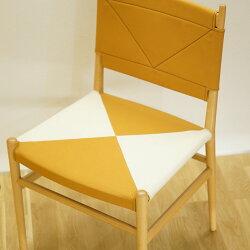 木製椅子帆布布天然木HAMPチェアハンプチェア無垢材オフィスチェアダイニングチェア