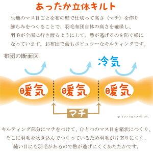 【送料無料】【日本製】【京都西川】【ダウン85%】【ダウンパワー約340cm3/g】【柄おまかせ】羽毛布団(ダブル)