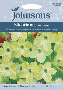 【輸入種子】背が高く美しい花を咲かせます!Johnsons SeedsNicotiana Lime Greenニコチアナ(...