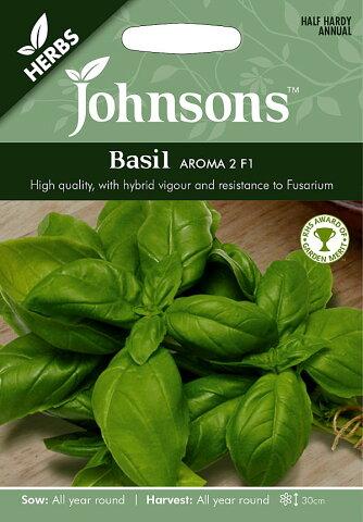 【輸入種子】Johnsons SeedsHERBSBasil Aroma 2 F1バジル・アロマ2・F1ジョンソンズシード