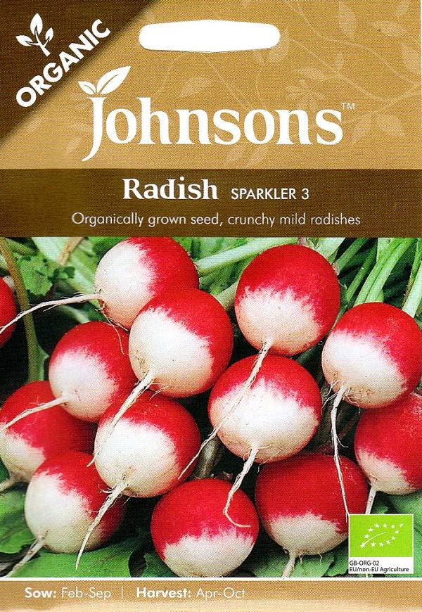 種子, 野菜の種子 Johnsons SeedsORGANICRadish Sparkler 3 3