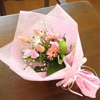 キャンディカラーのスプリング・ドットブーケ(花束)