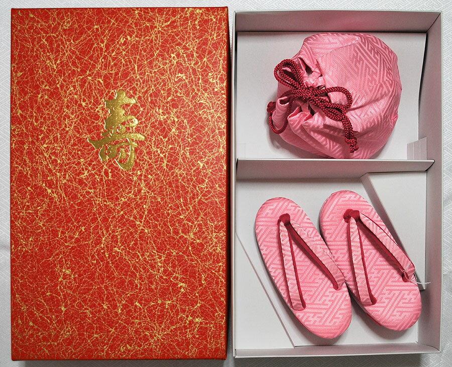 和装小物, 巾着袋  bags pink 18.0cm 16.5cm