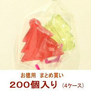 クリスマスプチギフト☆クリスマスツリーキャンディ 4ケース(200個)☆レビュー書き込みで次回あめプレゼント:京の飴工房