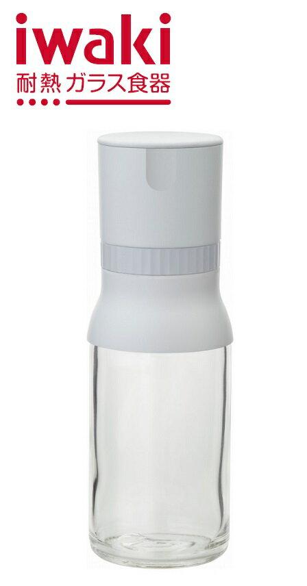 【メーカー公式】iwakiごまミル(ホワイト) 耐熱ガラス ガラス ごまミル ミル KS520N-GMW