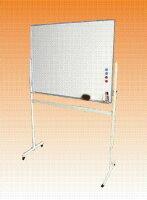 ホーローホワイトボードW1200×H900移動式脚付片面【送料無料】マーカーセット付(L-34W)