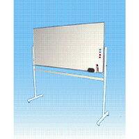 ホワイトボードW1800×H900移動式脚付片面マーカーセット付【送料無料】(LS-36W)