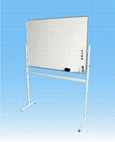 ホワイトボードW1200×H900移動式脚付片面【送料無料】マーカーセット付(LS-34W)