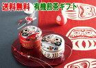 だるま缶入り【有機煎茶ギフト】お茶・日本茶