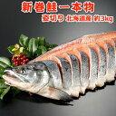 北海道産 新巻鮭(秋鮭)一本物 姿切り約3kg 送料無料 化...