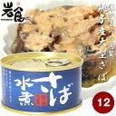 信田缶詰 銚子産 さば缶 さばの水煮【水煮】12缶セット
