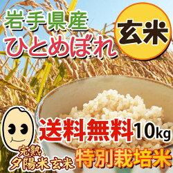 岩手県産・完熟夕陽米(玄米)ひとめぼれ10kg
