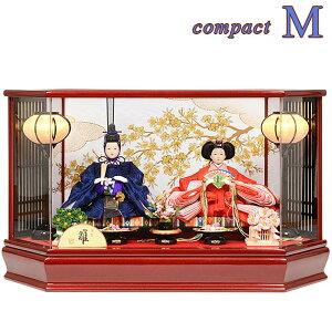 هينا دمية حالة الديكور المدمجة [M] هينا دمية Hatsudetsu الأمير الديكور الجديد ستة جوانب الاكريليك حالة هينا دمية