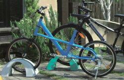 自転車止め/ミスギCYCLE-POSITIONサイクルポジションCP-500グレー/オレンジ/グリーン幅500mm×奥行300mm×高さ235mm