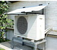 第一ビニールエアコン室外機用日よけのシート(遮光率約80%・断熱効果率約60%)幅102cm×奥行62cm×高さ22cm【組立式】