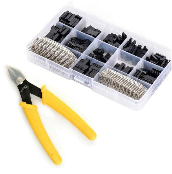 DIY工具セットお得アイウィス(IWISS)2.54mmピッチ2550QIコネクタデュポンコネクタ13種セット細電線カッタースー