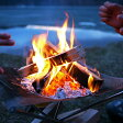ファイアスタンド 焚火台 焚き火台 メッシュ キャンプ ファイヤースタンド スターターセット アウトドア 焚火