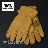 バイクグローブ革手袋革手袋バイクグローブWELLSLAMONTレザーグローブバイク手袋冬ツーリングに1組セット濡れても柔らか