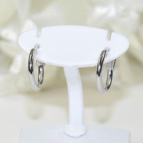A simple metal デイリーアクセ ♪ mini silver hoop earrings