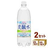 日本サンガリア 伊賀の天然水炭酸水ペット 1000ml ×24本(個) 飲料【送料無料※一部地域は除く】
