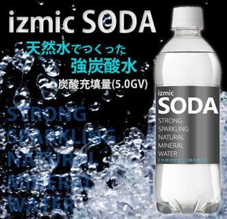イズミックSODA(ソーダ)天然水強炭酸水500ml×24本×2ケース(48本)飲料【送料無料※一部地域は除く】