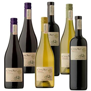 コノスル オーガニック750ml(赤4本 白2本) CONO SUR Organic スマイルワイン(西)