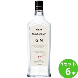 ウィルキンソンジン37゜ 720ml ×6本(個) ニッカウイスキー[ジン] ジン