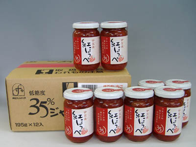 【低糖度35度ケース販売】紅ほっぺ苺ジャム180g×12