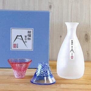 冷酒グラス セット(徳利 1個・杯 2個) 東洋佐々木ガラス 招福杯 富士山 冷酒器セット G639-M76冷酒カラフェ 酒器セット 冷酒器 日本酒 あす楽