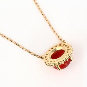 K18血赤サンゴプチネックレス