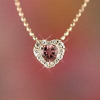 ピンクゴールドピンクトルマリン(10月誕生石)(4月誕生石)ダイヤモンドプチネックレス【送料無料!】