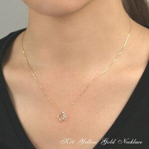 イエローゴールドブルートパーズ(11月誕生石)ペリドット(8月誕生石)(4月誕生石)ダイヤモンドネックレス【送料無料!】
