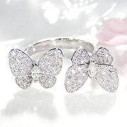 ファッション ジュエリー アクセサリー レディース ゴールド ホワイト ダイヤモンド ちょうちょ バタフライ マーキス プレゼント