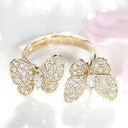 ファッション ジュエリー アクセサリー レディース ゴールド イエロー ダイヤモンド ちょうちょ バタフライ マーキス プレゼント