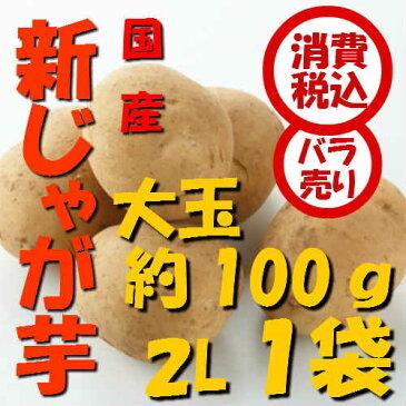【税込 バラ売り】鹿児島産他 新じゃが芋 大玉(2L)100g 1袋(しんじゃがいも シンジャガイモ ポテト じゃがいも ジャガイモ じゃが芋 常備野菜 特用 セット)上越フルーツ