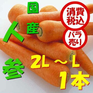 【税込 バラ売り】北海道産他 人参 2L〜L 1本(にんじん 人参 ニンジン キャロット きゃろっと)上越フルーツ