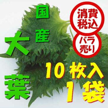 【税込 バラ売り】愛知県産他 大葉 10枚1束上越フルーツ