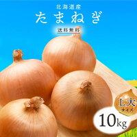 【送料無料】北海道産たまねぎL大10kg1箱|玉ねぎタマネギ玉葱玉ネギLオニオン箱まとめ買い野菜根菜業務用上越フルーツ