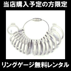指輪サイズ リングゲージ 無料レンタル 貸出し 結婚指輪 マリッジリング ブライダル リング ペアリング 【当店購入予定の方限定】プレゼントのために 【送料無料】  ※全サイズ(3パターン)同時の貸し出しはできません