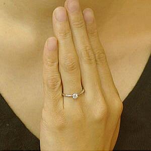 【対応】(11.10.9号)-鑑定付-ダイヤモンドエンゲージリングプラチナ婚約指輪0.2カラットHカラーGOODSi2ダイヤを美しく魅せる小さな6本爪シンプル婚約指輪