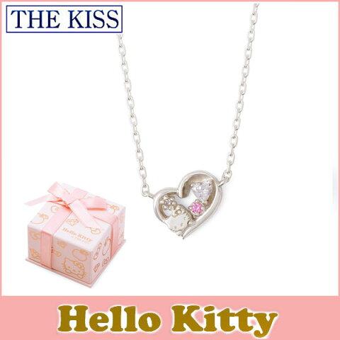 【ハローキティ×THE KISSコラボ】 THE KISS シルバー ネックレス 【レディース販売】 SV925製 ダイヤモンド KITTY-36DM 記念日