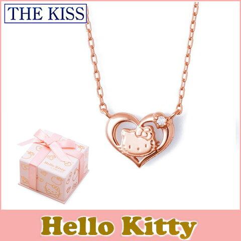 【ハローキティ×THE KISSコラボ】 THE KISS シルバー ネックレス 【レディース販売】 SV925製 ピンクコーティング x ダイヤモンド KITTY-09DM 記念日