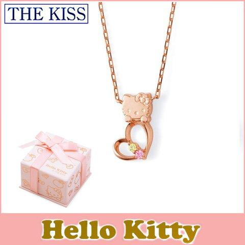 【ハローキティ×THE KISSコラボ】 THE KISS シルバー ネックレス 【レディース販売】 SV925製 ピンクコーティング x キュービックジルコニア KITTY-16CB 記念日
